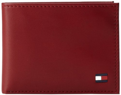 Tommy Hilfiger Men's Leather Dore Passcase Billfold Wallet with Removable Card H