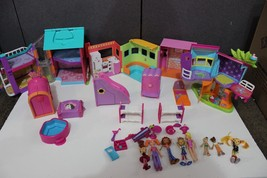 Polly Pocket Lot doll  House, tree house, accessories furniture dolls, lot - $29.75