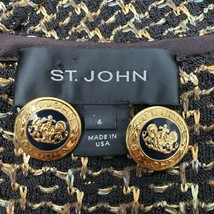ST JOHN Gold & Black Enamel Replacement Button Logo Coat of Arms Lion Crest - $21.99