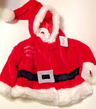 Infant Santa Claus Jacket Baby Gund 3-12 Month Red Plush Christmas Outfit - $29.65
