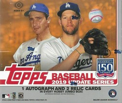 2019 Topps Update Jumbo Hobby Box with 2 silver packs in the box - $185.00