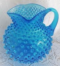 Rare Antique Hobbs Brockunier Hobnail Blue Glas... - $279.99