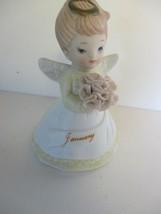 "Lefton China 3 1/2"" January Birthday Angel New in Box Vintage - $10.88"