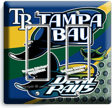 TAMPA BAY DEVIL RAYS BASEBALL TEAM 2 GFCI LIGHT SWITCH PLATE MAN CAVE RO... - $12.99
