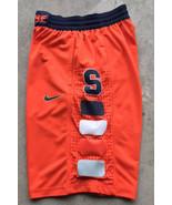 VTG Nike Syracuse Orange Authentic On Court Team Jersey Shorts Sz Small ... - $29.40