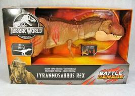 Jurassic World Tyrannosaurus Rex Battle Damage Colossal Dinosaur Brand New! - $148.49
