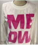 Total Girl MEOW Faux Fur Plus Size Large  14.5 16.5 Soft Sweat Shirt Cat... - $24.74