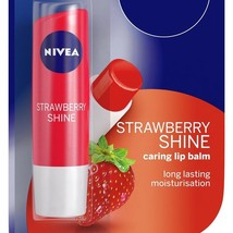 Nivea Strawberry Shine Caring Lip Balm 4.8 gm Long Lasting Moisturiser F... - $8.99+