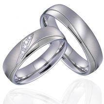 Never Fade Wedding Band Couple Rings Pair Valentine's Day Gift Titanium ... - $29.70