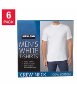 NEW KIRKLAND SIGNATURE MEN'S CREW NECK TEE * 6 Pack FREE SHIPPING - $26.99
