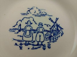 lot vintage Dutch boy girl childs tea set 3 PLATES Edwin M Knowles 6 1/2... - $20.68