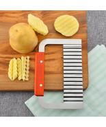 Cutter Potato Crinkle Chip Wavy Stainless Vegetable Dough Blade Slicer S... - $14.85