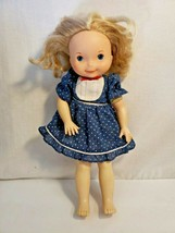 "My Friend Mandy 1981 Fisher Price 20141 Baby Doll Toy 15"" Vintage blue d... - $14.85"