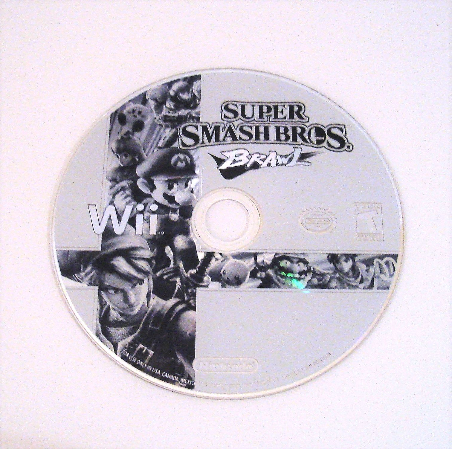 Smash bros. brawl disc only wii