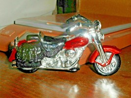 Harley Davidson 2002 Glass Christmas Ornament Collection Red And Chrome ... - $28.04