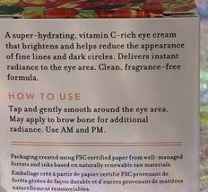 NIB Farmacy Cheer Up Vitamin C Eye Cream 15mL full Size NEW UNOPENED BOX image 3