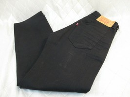 Worn Once Altered Levis 501 Mens Button Fly 36 x 32 Black Denim - $30.29