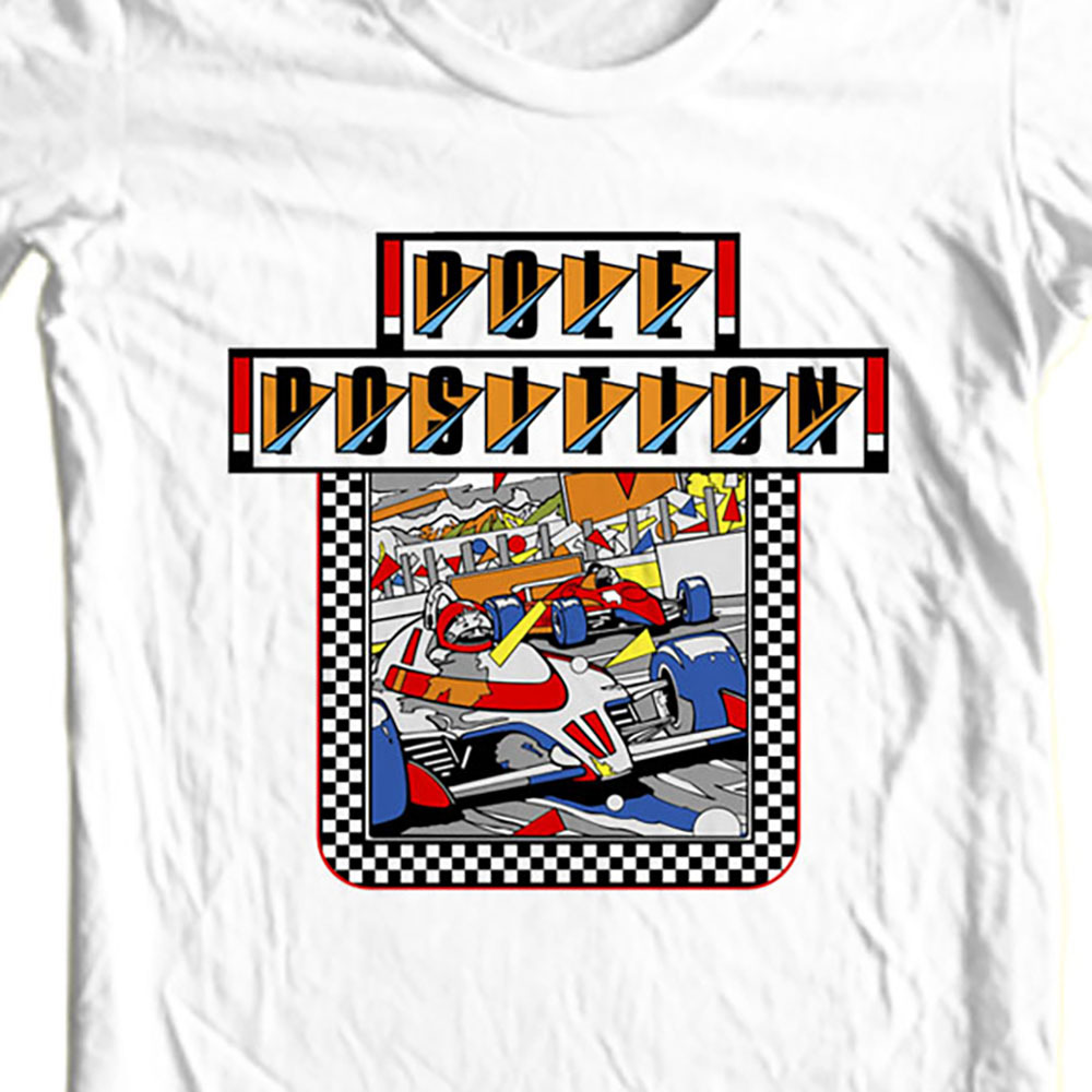 Pole position t shirt retro old video game arcade 80 s online store for sale tee