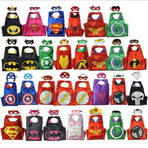 Adult Superhero Cape (1 cape+1 mask) for kids birthday party favors and ... - $12.99
