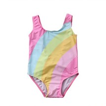 Toddler Baby Girls Rainbow Cloud Swimsuit Bathing Suit One Piece 3-4 Yea... - $12.12