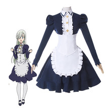 The Seven Deadly Sins Elizabeth Women Black Maid Dress Outfit Cosplay Co... - $48.99