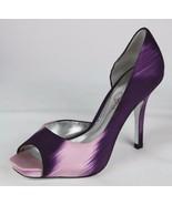 Jessica Simpson Josette women's shoes heels pump open toe purple size 7.5B - $22.99