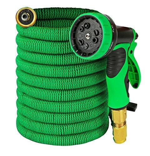 Garden Hose - Expandable 50ft Water Hose with Solid Brass Connectors , Triple La