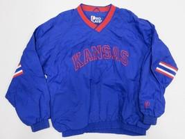PRO LAYER University of Kansas Jayhawks Blue Pullover NCAA Jacket Size Large - $49.45