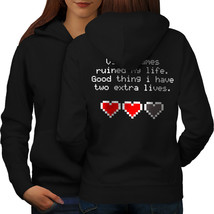 Video Games Lives Sweatshirt Hoody  Women Hoodie Back - $21.99+