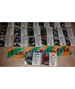 NFL FOOTBALL TEENYMATES SERIES 6 COMPLETE SET OF 32 PLAYER PROFILE CARDS... - $9.59