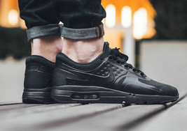 best cheap 291ef d404f NIKE AIR MAX ZERO ESSENTIAL TRIPLE BLACK SIZE 10.5 BRAND NEW W BOX (8760