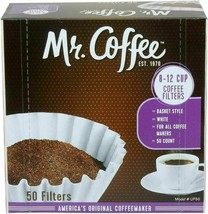 Mr. Coffee Basket Coffee Filters, 8-12 Cup, White Paper, 8-inch, 50-Coun... - $6.92+