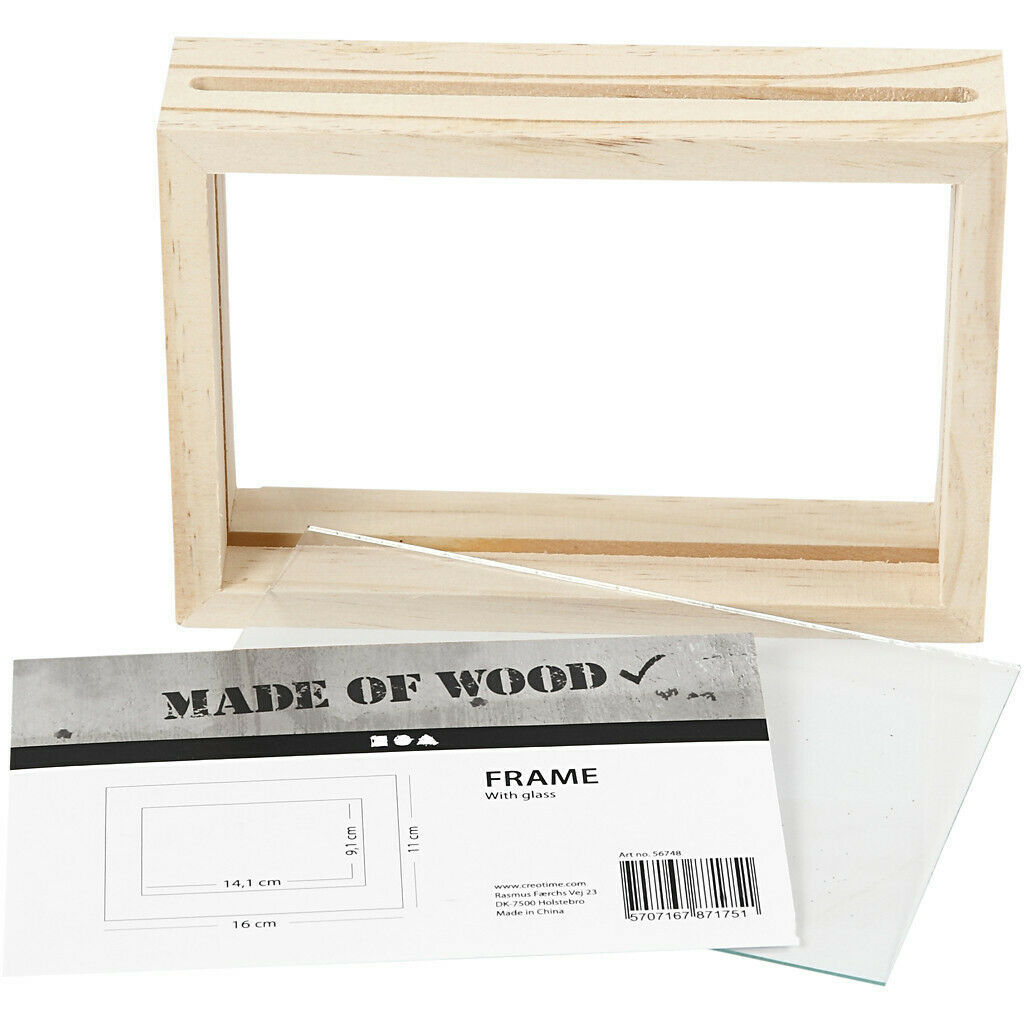 Primary image for Double Frame, size 16x11 cm, depth 4 cm, pine, 1pc, inner size 14.1x9.1 cm CR69