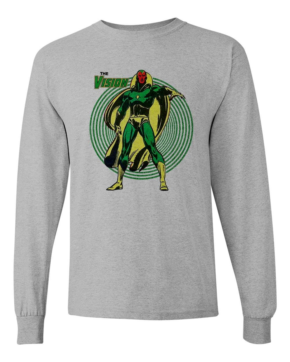 Ision marvel comics t shirt long sleeve the avengers civil war graphic tee store for sale online