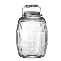 Anchor Hocking 2.5 gal. Glass Barrel Jar Gallon Brushed Aluminum Handle ... - $50.12 CAD