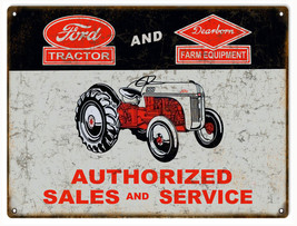 Ford Tractor And Dearborn Farm Authorized Sales And Service Sign - $19.80