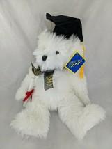 "The Petting Zoo White Graduate Bear Plush 12"" 2005 Graduation Stuffed An... - $9.95"