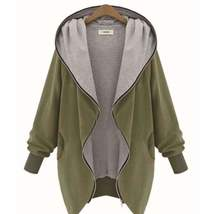 Asymmetric Zip Up Hooded Jackets - $39.00