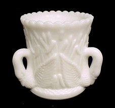 46878a westmoreland milk glass toothpick holder 3 swan in rushes white thumb200