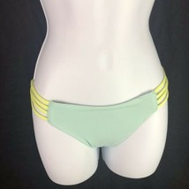 L Space Strap Side Full Cut Bikini Bottoms Color Bloch Green Blue Womens... - $19.80