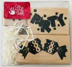 Blast of a Party 3 Rubber Stamps Confetti Cracker Close To My Heart #S36... - $5.80