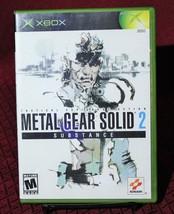 Metal Gear Solid 2 Substance XBox Complete CIB Original Microsoft Konami - $11.13