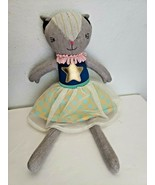 Target Pillowfort Cat Kitty Plush Stuffed Animal Pillow Doll Blue Star Dress  - $17.79