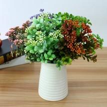 Artificial Plastic Branch Flower Wedding Home Decor Garden Artificial Pl... - $5.00