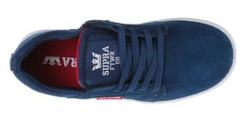 Supra Westway Boys Kids' Navy Suede/Navy Canvas/Red Skate Shoes 11K NEW image 6