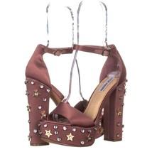 Steve Madden Glory Platform Studded Dress Sandals 182, Dusty Rose, 8.5 US - $25.91