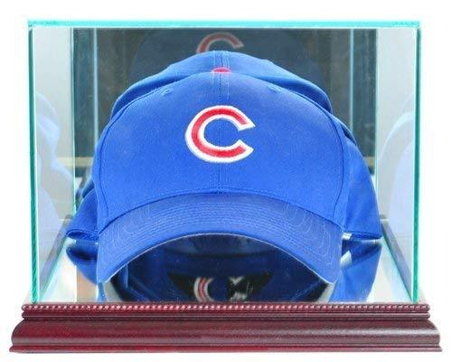 Cap / Hat Display Case with Glass Top and Cherry Wood Base