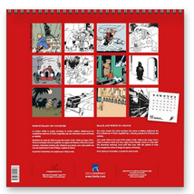 Tintin wall calendar 2022 New and sealed 30 cm x 30 cm Official Tintin product image 3