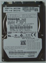 "New 100GB 2.5"" 9.5MM SATA Drive Toshiba MK1034GSX HDD2D37 Free USA Shipping"