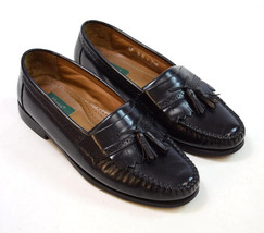 BASS WEEJUNS Niles Black Leather Moccasin Tassle Dress Shoes Loafers Mens 8 D - $54.44
